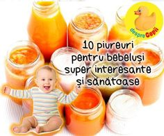 10 piureuri pentru bebelusi super interesante si sanatoase Healthy Diet Recipes, Baby Food Recipes, Dessert Recipes, Baby First Foods, Baby Puree, Meals For One, Kids And Parenting, Baby Kids, Homemade