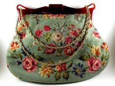 Large Vintage Tapestry Purse by ShopSuburbanSecrets on Etsy, $42.00