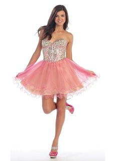 Cute beaded corset tutu short prom dresses for homecoming prom party