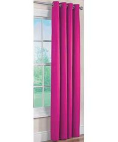 ColourMatch Lima Ring Top Curtains - 117x137cm - Fuchsia.