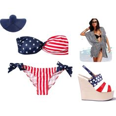 """A Day at the Beach"" by brownlatia on Polyvore: This is just a cute bikini."