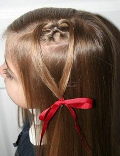 Hairstyle for school girl. School hairstyles for medium hair with layers. Cute hairstyles for school for medium hair with side bangs and layers.