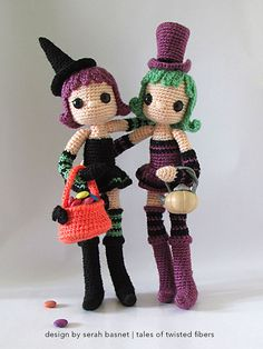 Violet and Ivy amigurumi crochet pattern by Tales of Twisted Fibers