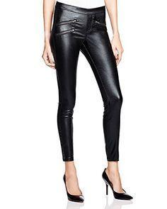 6505b6523cdcc Hue Zippered Glossy Hue Leggings, Denim Leggings, Shiny Leggings, Black  Leggings, Jeggings