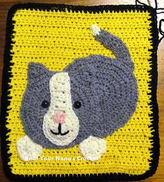 This is one of 12 appliques needed to make Knot Your Nana's Crochet's Farm Blanket.
