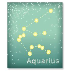 Aquarius Art - Zodiac Art - Aquarius Constellation Print - Star decor - Star print - 8x10 graphic print. $15.00, via Etsy.