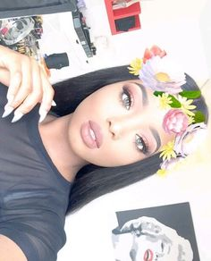 ♡ On Pinterest @ kitkatlovekesha ♡ ♡ Pin: Snapchat ~ Flower Crown Filter ♡