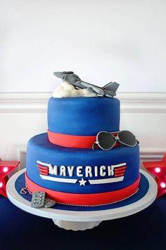 Trendy Birthday Cake For Husband Awesome Brother Teen Boy Birthday Cake, Airplane Birthday Cakes, Birthday Cake For Husband, 1st Birthday Parties, Birthday Ideas, Birthday Crafts, Top Gun Party, Bmx Cake, Mavericks Logo