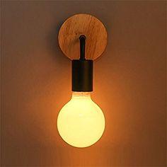 Jinyuze ブラケットライト モダン 工業風 レトロブラケットライト アンティーク調 シンプル 簡単なブラケットライトの室内おしゃれエジソン電灯 (ブラック) ブラック おしゃれ アンティーク 電球別売