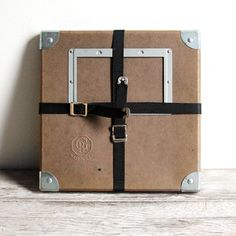 vintage brown film reel shipping box  115 x 115 x by lacklusterco, $20.00