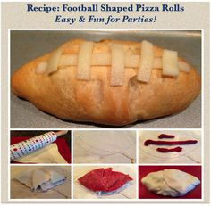 Recipe: Football Shaped Pizza Rolls #Recipe #Superbowl ~ Trendy Mom Reviews #Football