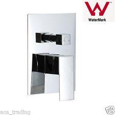 Bathroom brass sqaure shower diverter mixer tap 4 shower head & bath spout wall