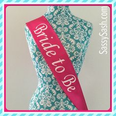 """Perfect for that special ""Bride to Be"" in your life. Order yours today  #bridetobe #engaged #bride #bridesash #sash #gettinghitched #bridalshower…"""