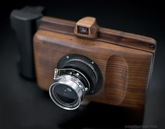 Homemade Wooden Camera: with the 65mm ƒ/8 Super Angulon in a helical from a Zuiko 50mm ƒ/1.8.