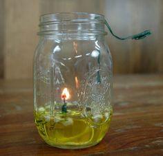 Mason Jar Oil Lamp   Cool Mason Jar Crafts You Can Do At Home