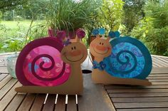 Laterne Schnecke Theo & Ottoline (Martinslaterne) von fRAU kNUFFIG auf DaWanda.com  #animalcraft #preschool