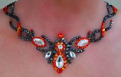 Dance partners Latin costume part 1. Necklace  All stones are Swarovski