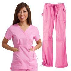 Koi Happiness Scrubs Women's Scrub Set | www.allheart.com #koi #allheart #scrubs #nurse #pink