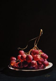 Red GLobe Grapes, painting by artist Jacqueline Gnott