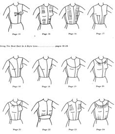 Fundamentals of pattern making for women Esther Kaplan Pivnick - FREE PDF this picture is a quick reference