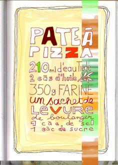 Mélanger tout ça dans le bol du Kitchen Aid, pétrir, laisser lever 1h ou 2. Étaler… garnir… Cuire à 220° 25 mn avec ces quantitées, je fais 2 pizzas.