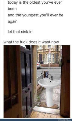 NO I WON'T LET THE SINK IN