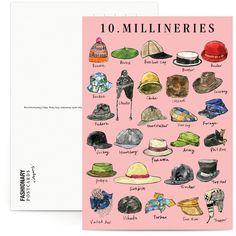 Accesorios para la cabeza - Fashionary X Vita Yang Postcard Book | Fashionary