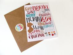 Pride and Prejudice cards: characters and places (3.94 x 5.91) set of 3 cards with matching envelopes