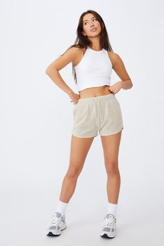 Textured Jersey Pull On Sporty Short