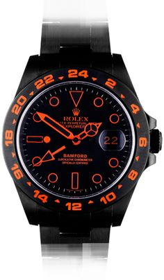 Rolex SE Explorer II - Stealth 'Flame' customized by Bamford.  Oh, yeah, that's cool.  €11,500, or $15,150.00