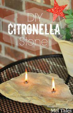 Mel Tales: DIY Citronella Stone #funinthesunbloggers