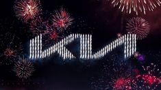 South Korean car manufacturer Kia Motors has unveiled a new logo in a drone-based fireworks show, which connects the letters of its name in an unbroken line. Incheon, Kia Motors, Drones, Large Suv, Fireworks Show, Guinness World, Global Brands, World Records, Automotive Industry