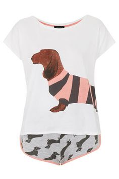 Sausage Dog Tee and Short PJ