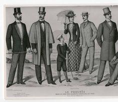 Men 1890-1900, Plate 012 :: Costume Institute Fashion Plates