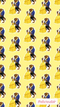 Beauty and the Beast Character Emoji Pattern design on iPhone 7
