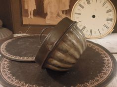Vintage / Antique Metal Ice Cream Tin Mold by AloofNewfWhimsy