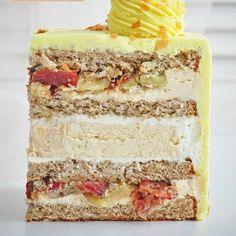 Bolo Cake, Torte Cake, Baking Recipes, Cake Recipes, Russian Cakes, Pastry Shop, Mousse Cake, Russian Recipes, Vanilla Cake