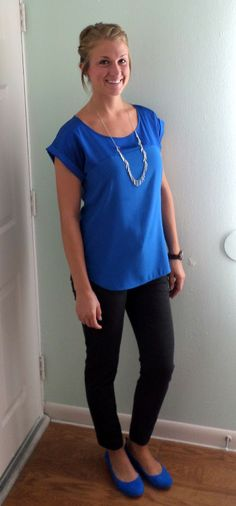Love the blue Common combo for hot late summer - I usually add a cardi/shawl/scarf in winter