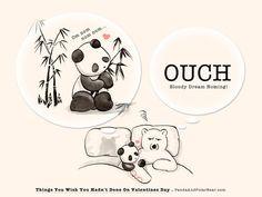 Things You Wish You Hadn't Done On Valentines Day: Dream Noming – Panda and Polar Bear Panda Hug, Baby Panda Bears, Panda Love, Love Bear, Polar Bear Cartoon, Cute Panda Cartoon, Amor Ideas, Cute Bear Drawings, Chibi Cat