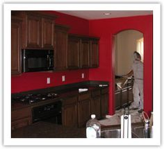 1000 Images About Kitchen On Pinterest Red Walls Red Kitchen And Wainscoting