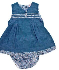 Plum Denim Floral story 2 Piece Chambray Dress/Pant Set - Baby and Childrens Clothing Baby Boutique Clothing, Chambray Dress, 12 Months, Plum, Girl Outfits, Rompers, Age, Summer Dresses, Denim