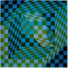 "Attila's Site ""Pathfinder, look out for the fruits of life. The word is nice! I don't want to stand still.I want to walk into the light! Cool Optical Illusions, Art Optical, Victor Vasarely, 3d Quilts, Fractal Art, Fractals, French Artists, Geometric Art, Les Oeuvres"