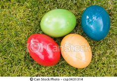 Stock Photo - Colorful Easter Eggs - stock image, images, royalty free photo, stock photos, stock photograph, stock photographs, picture, pictures, graphic, graphics