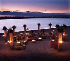 Sunset Beach Reception Obsessed With This Idea Wedding Locations Venues