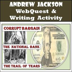 """This IS NOT the webquest for the retired PBS site! This NEW webquest takes students through Jackson's early life, to his famous duel with Charles Dickinson, to the election of 1824 and the """"corrupt bargain,"""" to his fight against the National Bank. Students write mini-reflections which allow them to process, analyze, and interpret the what they are discovering. The final objective for students is to decide if Andrew Jackson is worthy of being depicted on our national currency."""