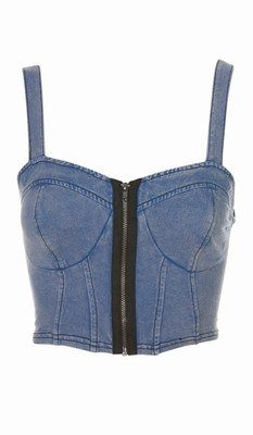 I like the exposed zipper look on the denim bustier. Get-The-Look-Rihanna-3-1-133447_L.jpg 233×400 pixels