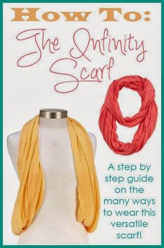 How to wear infinity scarves