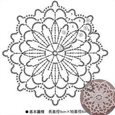 코바늘 원형모티브 도안으로 예쁘게 떠봐요!^^ : 네이버 블로그 Crochet Bedspread Pattern, Crochet Snowflake Pattern, Crochet Mandala Pattern, Crochet Circles, Crochet Snowflakes, Crochet Doily Patterns, Granny Square Crochet Pattern, Crochet Diagram, Crochet Chart