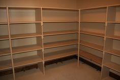 Storage room shelving.