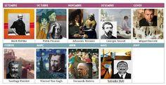 QUADRATS RODONS: UN TOC D´ART  Se trabaja un pintor cada mes